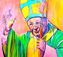 Our Holy Father  Pope John Paul ll . by vickimec