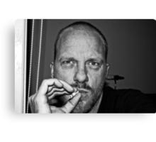 "Self Portrait ""smoking"" Canvas Print"
