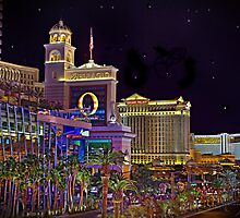 The Big Three Hotel/Casinos ~ Las Vegas Strip by Michael  Hays