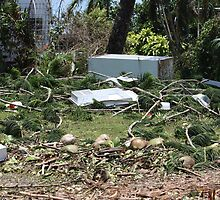Tidal surge debris after Cyclone Yasi - Cardwell, North Queensland, Australia by myhobby