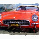 Red 1954 Corvette by RGMcMahon
