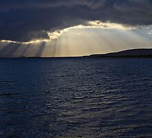 Connel Sunset Crepuscular Rays by PigleT
