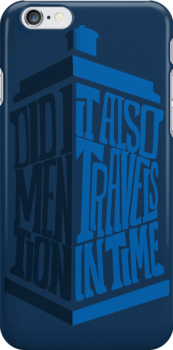 It also travels in time -iPhone case by D4N13L