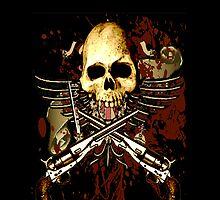 Sixgun Skull by ZeroAlphaActual