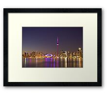 """CN Tower Turned Pink For Breast Cancer Month """"IN HONOR"""" Framed Print"""