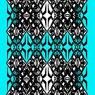 Teal Tech Pattern by Cranemann