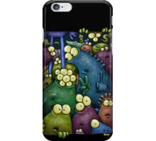 A crowd of iphone dwelling aliens ... iPhone Case/Skin