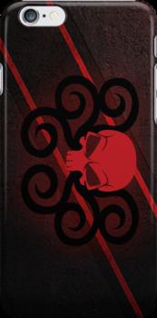 Hydra Red Skull Logo by RiskGambits