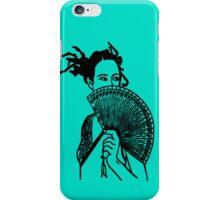 """Geisha Girl"" (aqua) - phone iPhone Case/Skin"