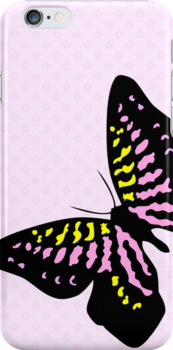 Flutterby iphone case 4S & 4 by red addiction