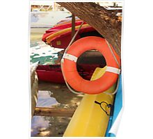 Kayaks At the Waters Edge Poster