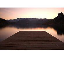 Lake Bled at sunset Photographic Print