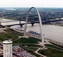 Downtown St. Louis from the Arch - (1977) by Dwaynep2010