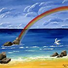 Rainbow at the beach by macl