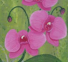 One Heart Orchids by Herb Dickinson