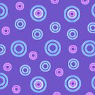 Purple Ring Tones iPhone Case by Betty Mackey