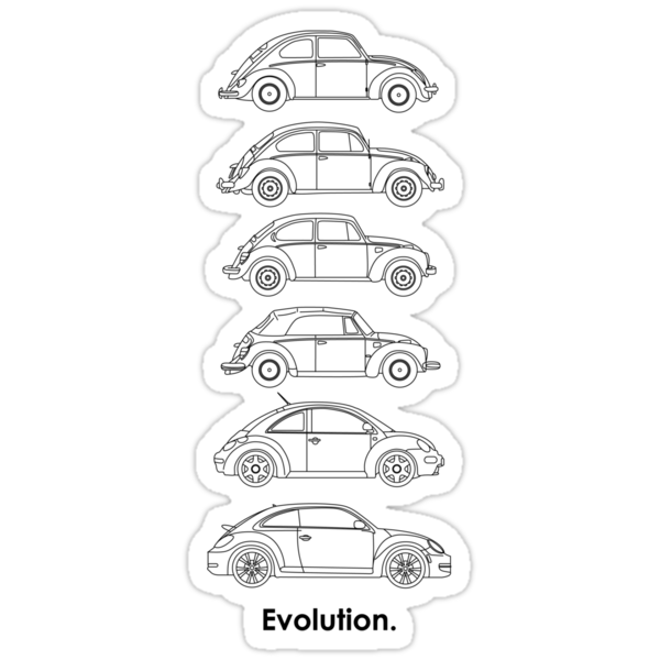Evolution of the Volkswagen Beetle by Sarah Caudle