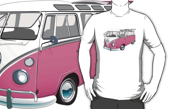 21 Window Volkswagen Bus... but PINK! by Sarah Caudle
