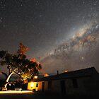 Edeowie Station Under the Milky Way by Wayne England