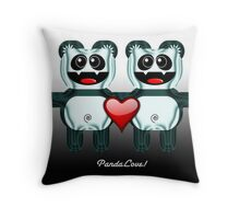 PANDA LOVE Throw Pillow