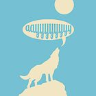 Wolf and Moon iPhone Case by Josh Marten