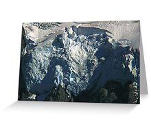 glacier face detail Greeting Card