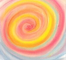 Swirling Rainbow Lollipop by Nicole Isaacs