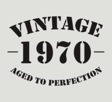 Vintage 1970 birthday by personalized