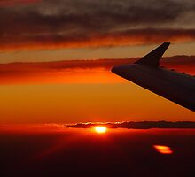 Sunset from the plane by Cara Gallardo Weil