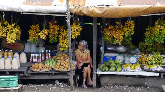 Fruit stall, Tagaytay, Philippines by Cara Gallardo Weil