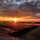 Sunset in Cleveleys, Lancashire.  by Lilian Marshall