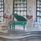 Green Piano  by Jewel  Charsley
