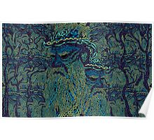 Tolstoy psychedelic wallpaper Poster