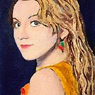 Luna Lovegood Miniature ACEO Card by Mike Paget