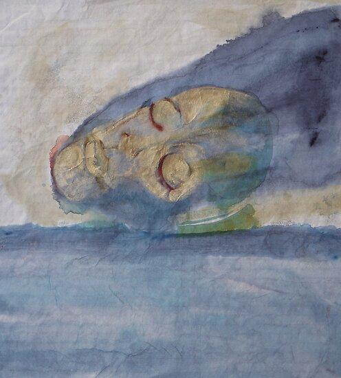 A golden mask II by Catrin Stahl-Szarka