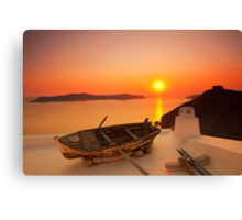 Thira Sunset Canvas Print