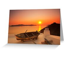 Thira Sunset Greeting Card