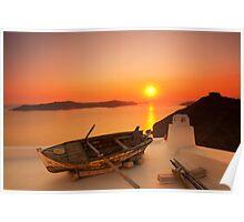 Thira Sunset Poster