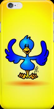 Blue twitter bird by cardvibes