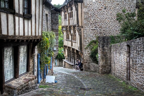 Dinan, Brittany, France by Ann Garrett