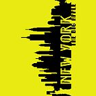 New York - The Big Apple iPhone - Yellow - (iPhone) by Adam Angold