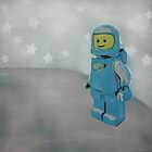 Lego Man On The Moon by MyFirstCanvas