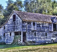 Old Grey Barn Ain't What She Use To Be by Jim  Egner