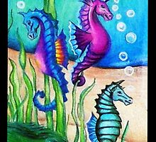 The Fantasy Sea Horses by Sandra Gale