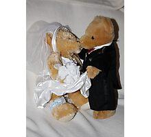 Mr & Mrs Teddy Photographic Print