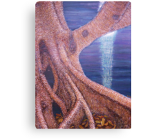 Tree Serenaded by the Moon Canvas Print