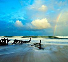 Dicky Beach Rainbow by Kate Wall