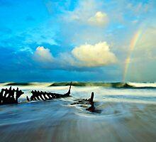 Dicky Beach Rainbow by Kate Wall
