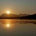 sun-reflection in the morning by Martina  Stoecker