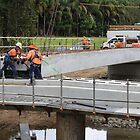 Men At Work On A Rural Bridge by aussiebushstick